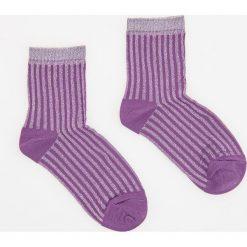Skarpety - Fioletowy. Fioletowe skarpetki damskie marki FOUGANZA, z bawełny. W wyprzedaży za 9,99 zł.