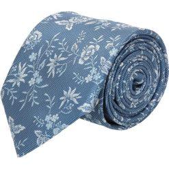 Krawaty męskie: krawat platinum niebieski classic 243