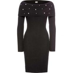 Sukienki: Sukienka z aplikacją z perełek bonprix czarny