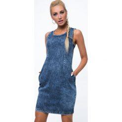Sukienki: Sukienka jeansowa bez ramiączek 1644