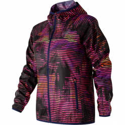 New Balance WJ71163SVL. Brązowe kurtki damskie do biegania New Balance, z materiału. Za 199,99 zł.