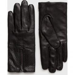 Pieces - Rękawiczki skórzane. Czerwone rękawiczki damskie Pieces, z materiału. Za 149,90 zł.