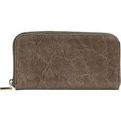 """Portfele damskie: Skórzany portfel """"Apolline"""" w kolorze szarobrązowym – 20 x 11 x 2,5 cm"""