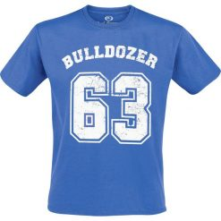 Bud Spencer Bulldozer T-Shirt niebieski. Szare t-shirty męskie z nadrukiem marki S.Oliver, l, z bawełny, z włoskim kołnierzykiem, z długim rękawem. Za 114,90 zł.