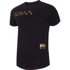 T-shirty męskie z nadrukiem: T-shirt męski TSM224 – głęboka czerń