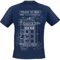 Doctor Who Tardis - Plan T-Shirt niebieski. Niebieskie t-shirty męskie z nadrukiem Doctor Who, m, z okrągłym kołnierzem. Za 74,90 zł.