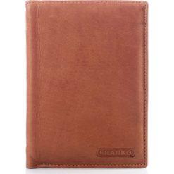 Portfele męskie: Portfel męski FRANKO pojemny portfel ze skóry cielęcej