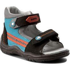 Sandały BARTEK - 11709-529 Czarno Turkusowy. Czarne sandały męskie skórzane Bartek. Za 159,00 zł.