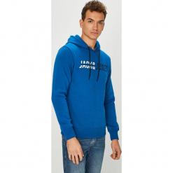 Jack & Jones - Bluza. Czarne bluzy męskie rozpinane marki Jack & Jones, l, z bawełny, z okrągłym kołnierzem. Za 129,90 zł.