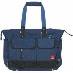 """Torebki klasyczne damskie: Torba """"Baggy"""" w kolorze niebieskim na akcesoria do przewijania – 35 x 32 x 15 cm"""