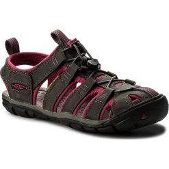 Sandały KEEN - Clearwater Cnx Leather 1014370 Magnet/Sangria. Szare sandały damskie Keen, z materiału. W wyprzedaży za 299,00 zł.