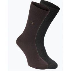 Calvin Klein - Skarpety męskie pakowane po 2 szt., beżowy. Brązowe skarpetki męskie marki Calvin Klein. Za 49,95 zł.