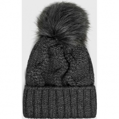 Answear - Czapka. Czarne czapki zimowe damskie ANSWEAR, z dzianiny. Za 49,90 zł.