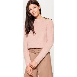 Sweter z domieszką wełny - Różowy. Czerwone swetry klasyczne damskie Mohito, l, z wełny. Za 129,99 zł.