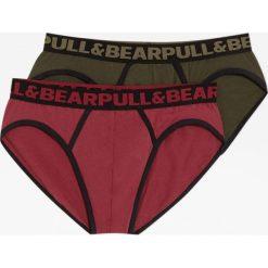 Komplet 2 par slipów basic. Brązowe bokserki męskie Pull&Bear. Za 49,90 zł.