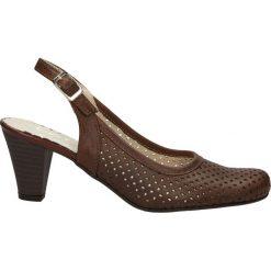 CZÓŁENKA CASU 091. Brązowe buty ślubne damskie Casu, na koturnie. Za 99,99 zł.