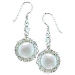Kolczyki damskie: Kolczyki z perłami i cyrkoniami