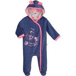 Śpiochy niemowlęce: Śpioszki w kolorze granatowo-różowym