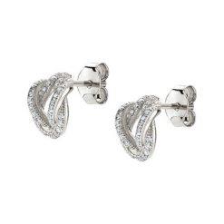 Biżuteria i zegarki: Srebrne kolczyki z cyrkoniami