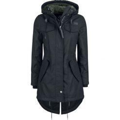 Brandit Mash Lake Parka Girls Płaszcz damski czarny. Czarne płaszcze damskie pastelowe Brandit, xl, z aplikacjami, z polaru. Za 399,90 zł.