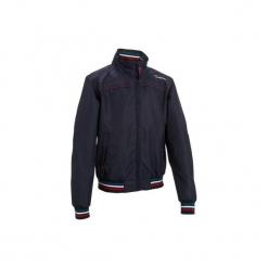 Bluza jeździecka JKT500 nieprzemakalna. Czerwone bluzy męskie marki KALENJI, m, z elastanu, z długim rękawem, długie. Za 199,99 zł.
