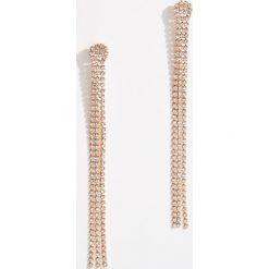 Długie kolczyki z kryształkami - Złoty. Żółte kolczyki damskie marki Stylowa biżuteria, pozłacane. Za 29,99 zł.
