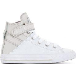 Wysokie trampki CTAS Brea Fashion Leather Hi. Szare buty sportowe dziewczęce marki Converse, ze skóry, na sznurówki. Za 272,96 zł.