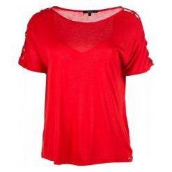 Pepe Jeans T-Shirt Damski Kelli M Czerwony. Czerwone t-shirty damskie Pepe Jeans, s, z jeansu, ze sznurowanym dekoltem. Za 220,00 zł.