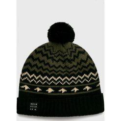 Quiksilver - Czapka. Czarne czapki zimowe męskie Quiksilver, na zimę, z dzianiny. Za 139,90 zł.