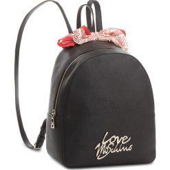 Plecak LOVE MOSCHINO - JC4052PP15LE000B  Nero Oro. Czarne plecaki damskie Love Moschino, ze skóry ekologicznej, klasyczne. Za 859,00 zł.