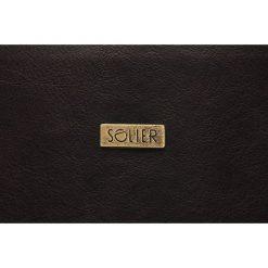 Miejska brązowa torba na ramię ARIAN. Brązowe torby na ramię męskie marki Solier, w paski, z jeansu. Za 199,90 zł.