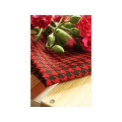 Poszetka Kratka z Pazurem. Czerwone poszetki męskie Edyta kleist, w kratkę, z bawełny, klasyczne. Za 49,00 zł.
