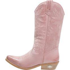 Kentucky's Western Kowbojki i Buty motocyklowe rosa. Czerwone buty zimowe damskie marki Kentucky's Western, z materiału. Za 549,00 zł.