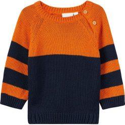 """Swetry chłopięce: Sweter """"Naron"""" w kolorze granatowo-pomarańczowym"""