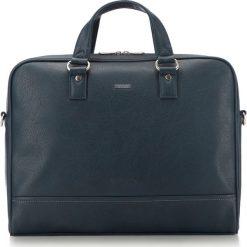 Torba na laptopa 87-3P-506-N. Niebieskie torby na laptopa Wittchen, w paski. Za 379,00 zł.