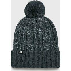 New Balance - Czapka. Szare czapki zimowe damskie New Balance, na zimę, z dzianiny. Za 99,90 zł.