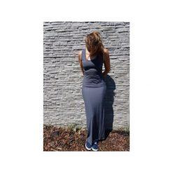 SUKIENKA ELENA | LETNIA MAXI GRAFITOWA. Szare długie sukienki marki Meleksima, na lato, l, z materiału, z długim rękawem, dopasowane. Za 118,30 zł.