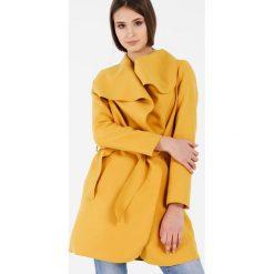 Płaszcze damskie pastelowe: Płaszcz materiałowy – 71-7021 GIALL