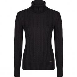 Sweter w kolorze czarnym. Czarne swetry klasyczne damskie marki Giorgio di Mare, xs, z dzianiny, ze stójką. W wyprzedaży za 152,95 zł.