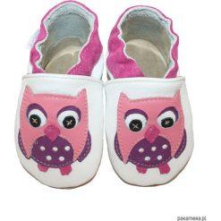 Buciki niemowlęce: SKÓRZANE BUCIKI baBice sowa