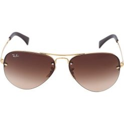 RayBan Okulary przeciwsłoneczne gold/brown. Brązowe okulary przeciwsłoneczne damskie aviatory Ray-Ban. Za 569,00 zł.