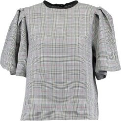 Bluzki asymetryczne: Topshop CHECK FLUTE SLEEVE Bluzka grey
