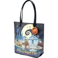 Miasteczko Halloween Loungefly - Halloween Town Torba zakupowa wielokolorowy. Pomarańczowe torebki klasyczne damskie Miasteczko Halloween, z nadrukiem, z nadrukiem. Za 244,90 zł.