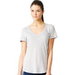 Topy sportowe damskie: Adidas Koszulka damska Logo V-Tee szara r. M (AY0176)