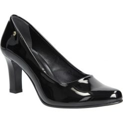 Czarne czółenka lakierowane na słupku Casu 3043. Czarne buty ślubne damskie Casu, z lakierowanej skóry, na słupku. Za 78,99 zł.