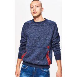 Sweter o kroju bluzy - Granatowy. Niebieskie swetry klasyczne męskie Cropp, l. Za 89,99 zł.