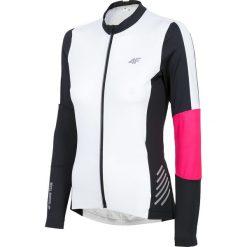 Koszulka rowerowa damska RKD150 - biały. Białe bluzki sportowe damskie 4f, m, z elastanu, z długim rękawem. Za 219,99 zł.
