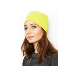 Czapki zimowe damskie: czapka limonka/ organiczna bawełna