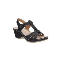Rzymianki damskie: Sandały Casu  Sandały ażurowe na koturnie  BZT68725-9