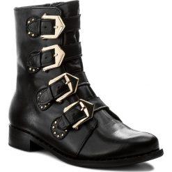 Botki KARINO - 2293/076-F Czarny. Fioletowe buty zimowe damskie marki Karino, ze skóry. W wyprzedaży za 239,00 zł.